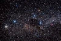В созвездии Южного Креста расположено крупное скопление молодых звезд